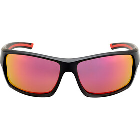 UVEX Sportstyle 222 Pola Occhiali, black matt red/mirror red